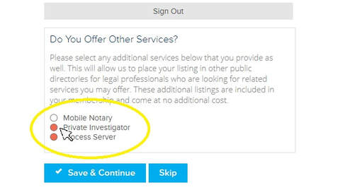 Adding Your Listing to Private Investigator or Mobile Notary